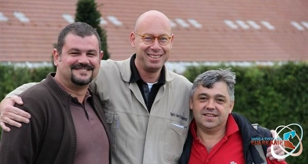 Ante Filipovic and Branko-Gorupec together with Evert Jan