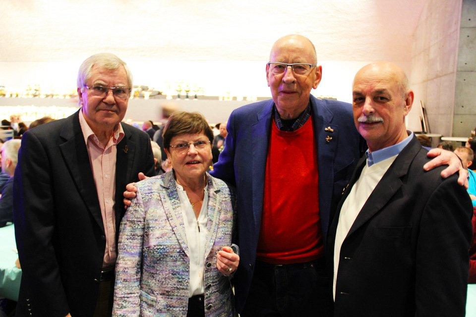 Gouden duif 2017: Dirk and Giesela Zoland, Hans Eijerkamp, Gert Blum