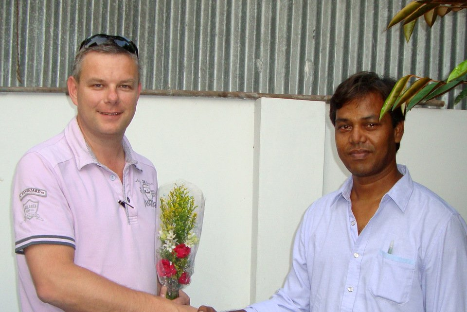 Henk Jurri�ns visiting Mr Mostaq Ahmed