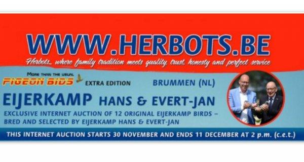 Herbots Pigeon Bids Auction Extra Edition HANS & EVERT-JAN EIJERKAMP