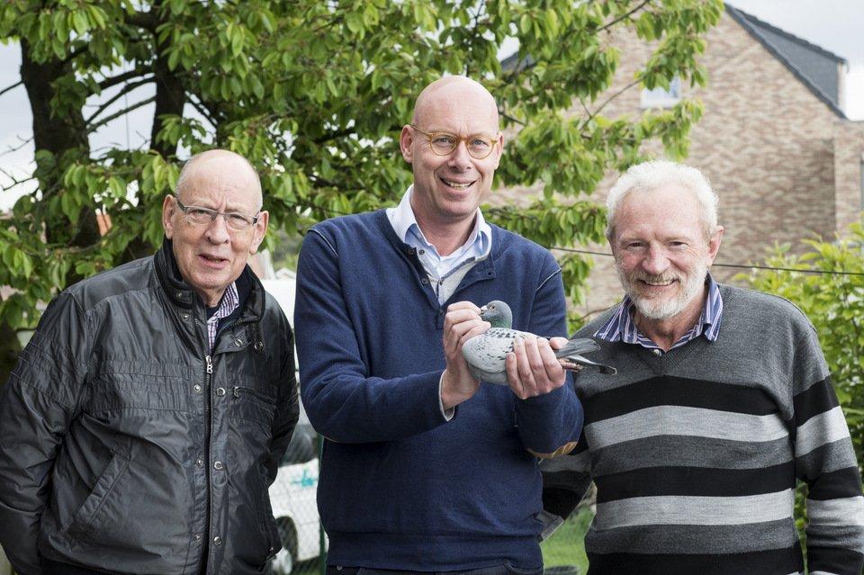 Hans and Evert Jan Eijerkamp with Leo Heremans