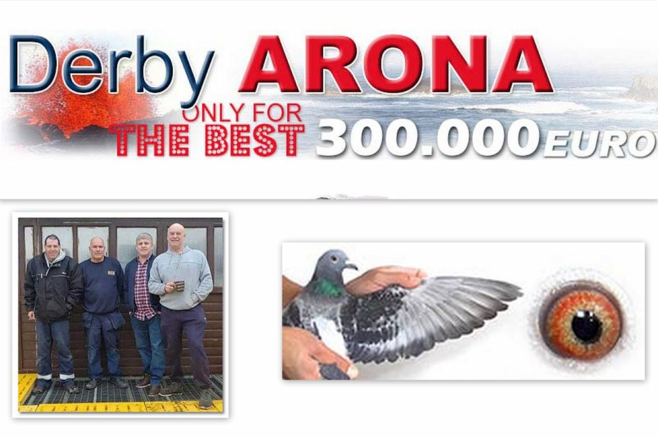1st Survival Car Race 1 -  100 km. against 2,113 pigeons Derby Arona