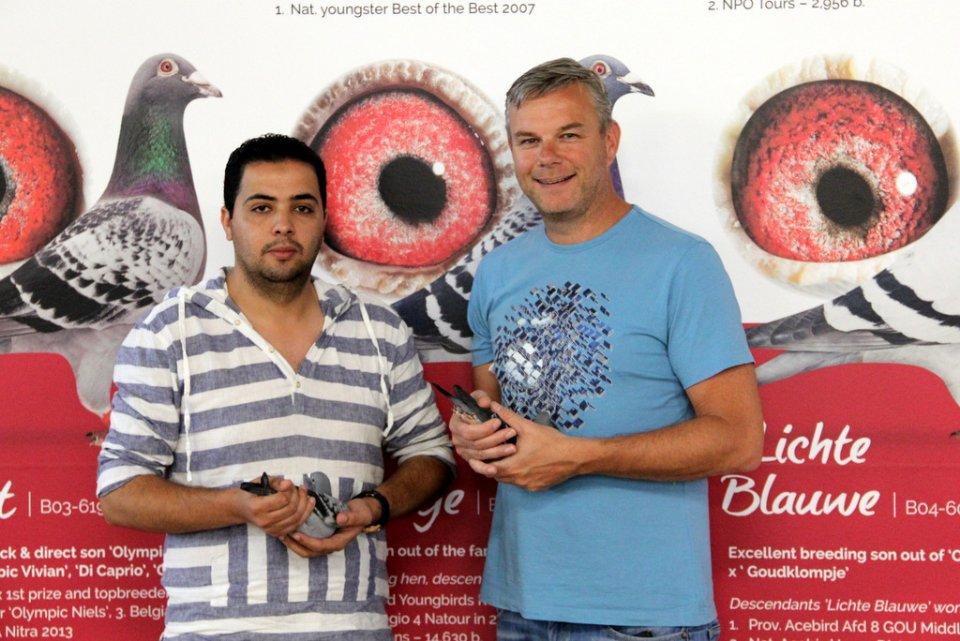 Mohamed Taha Barj from Maroc visiting Eijerkamp