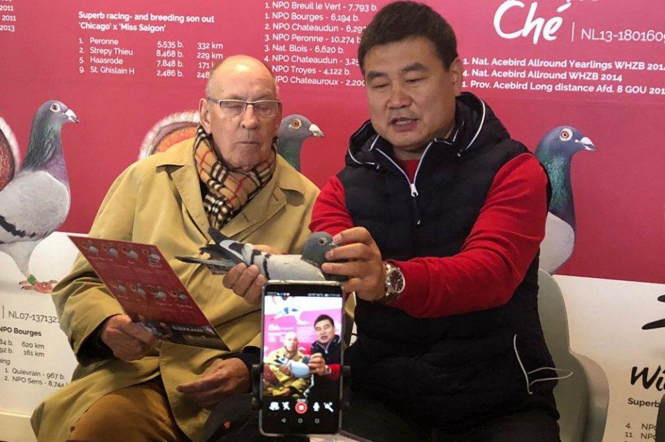Mr. Kou Biao visiting Hans and Evert Jan Eijerkamp