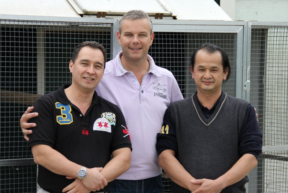 Guests fromTaiwan Mr Tao en Mr Chen with Henk Jurri�ns