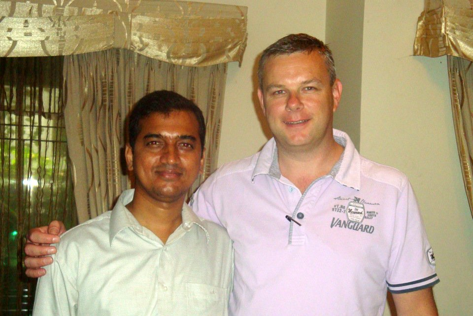 Mynuddin Ahamed from Bangladesh with Henk Jurriens