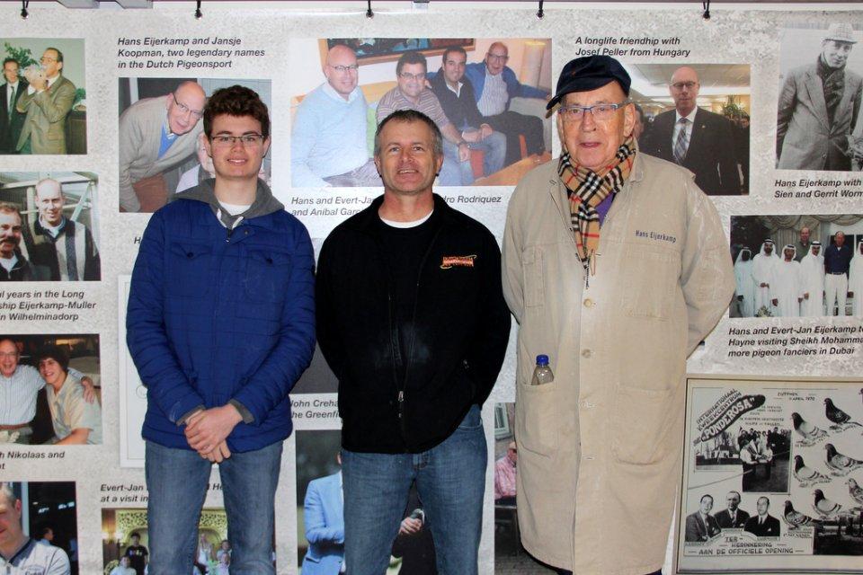 Oscar DeVries and son visiting Hans and Evert Jan Eijerkamp
