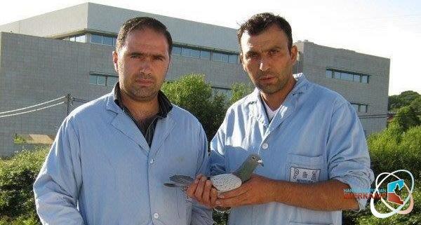 Pedro en Miguel uit  Braga (V. N. Famalicao - Portugal) winnen de duivenvoucher van €200,= van de maand september 2014