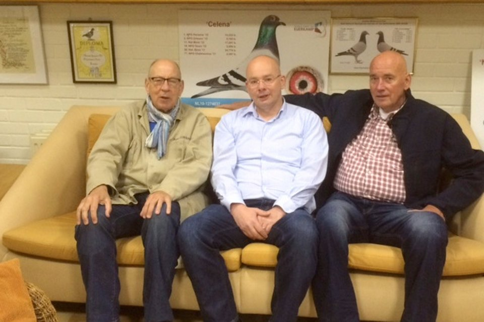 Hans with Richard and Cees Panhuis