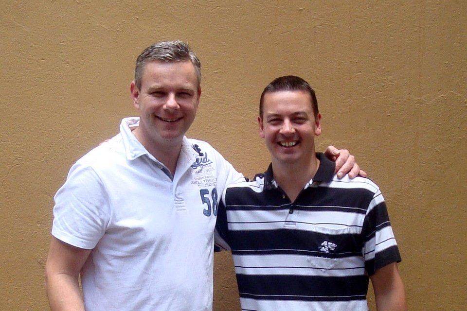 Henk Jurriens with Chris Stoop