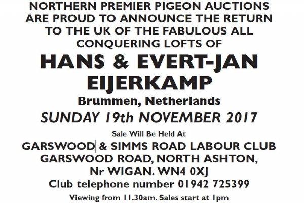 NORTHERN PREMIER PIGEON AUCTION