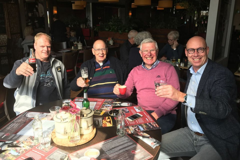 Wiebren  Vreeling, Hans Eijerkamp, Willem de Bruijn, Evert Jan Eijerkamp,  best friends together