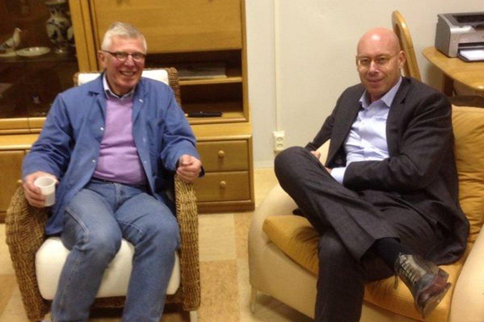 Willem de Bruijn visiting Evert Jan Eijerkamp
