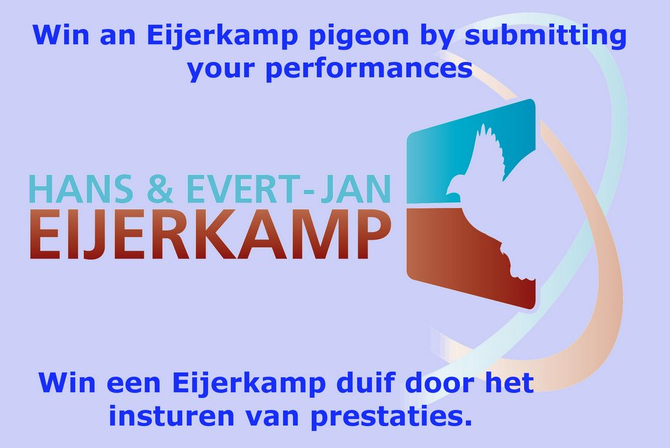 Win an Eijerkamp pigeon by submitting your performances